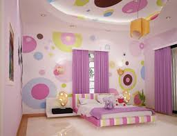 Decorations:Nice Decor Of Colorful Wall Painting Also Kids Room With Rainbow  Walls Fabulous Bedroom