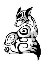 tribal fox drawing. Unique Fox Tribal Fox Tattoo Drawing Sit In Tribal Fox Drawing