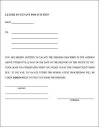 Rent Notice Letter Sample Free Downloadable Eviction Forms Sample 30 Day Eviction Notice