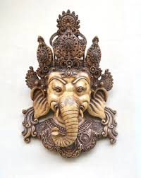 wall hanging mask decor indian wall sculpture art vintage creation