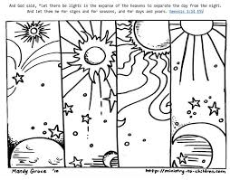 Use this fun coloring page in your children's ministry when all the kids are buzzing about their favorite emoji. Genesis 1 14 Coloring Sheets God Made Day Night Ministry To Children