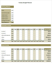 sample household budget family budget template 5 free word excel documents download