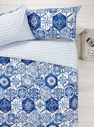 mosaic bedroom furniture. Bhs White And Blue Mosaic Tile Sheets Bedroom Furniture
