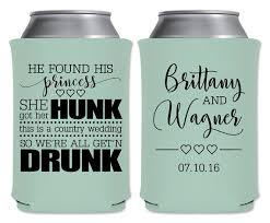 these custom wedding koozies by gracious bridal will keep your Wedding Wine Koozies wedding can coolers beverage insulators koozies personalized wedding favors he found his princess she found wedding wine koozies