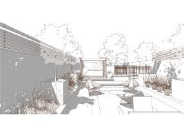Small Picture Bowles and Wyer garden perspective Sketchup line render