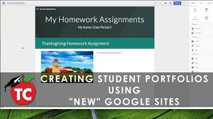 how to use the new google sites for student portfolios