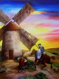 don quixote painting don quixotes windmill adventure by dominica alcantara