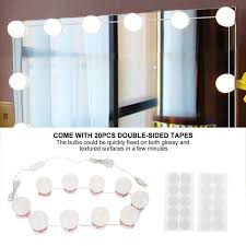 makeup mirror vanity led light bulbs kit usb charging port cosmetic lighted make up mirrors bulb adjustable brightness lights mirror vanity mirrors for