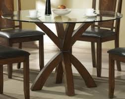 glass dining room table. round dining table glass top in cappuccino - coaster room