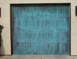 modern metal garage door. Metal Clad Garage Doors \u2013 Copper Collection Tiffany Green Patina Modern Door N