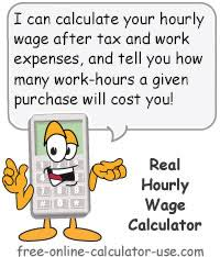 Salary Expenses Calculator Real Hourly Wage Calculator To Calculate Work Hour Net Profit