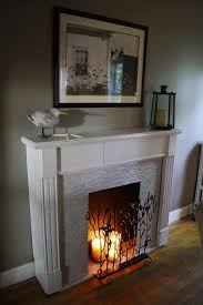 Decorating: Romantic Candle Fireplace Ideas - Fireplace Candle