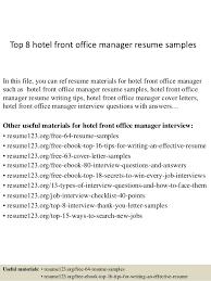 Front Desk Resume Sample Sarahepps Com