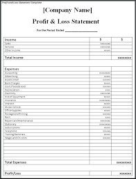 Sample Profit And Loss Statement Small Business Business Profit And Loss Statement Template Free Profit And Loss