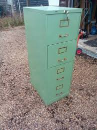 retro roneo filing cabinet mint green
