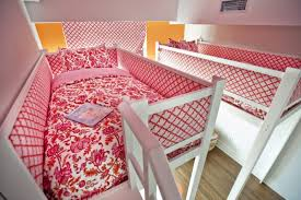 bedrooms for two girls. Amazing Pink And Orange Loft Bedroom For Two Girls | Kidsomania Bedrooms