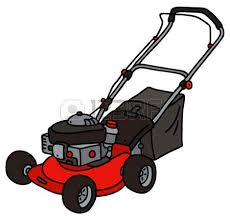lawnmower drawing. hand drawing of a red garden lawn mower royalty free cliparts, vectors, and stock illustration. image 60781091. lawnmower