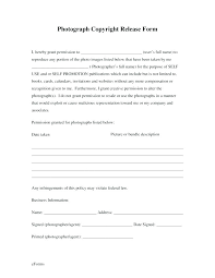 Free Generic Photo Copyright Release Form Forms Photography ...