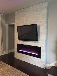 flush mount linear electric fireplace stylish best insert ideas on throughout 4