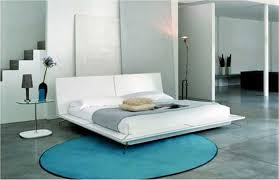 Simple To Decorate Bedroom Cool Blue Wall Color With Floral Pattern Also Simple Master Bed