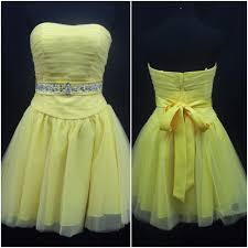 Details About Mori Lee Short Yellow Homecoming Gown Formal Prom Pageant Dress 6 9050 Nwt