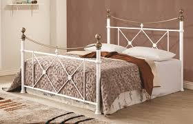 gold bed frame queen. Interesting Gold Lucille Traditional White Gold Metal Queen Bed W Frame Residence Decor  With Inside E