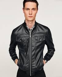 details about bnwt zara black faux leather jacket s m ref 4341 354