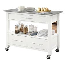 stainless steel top acme kitchen island in white for matco tool box