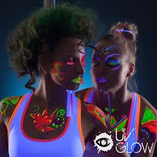 amazon uv glow blacklight face and body paint 0 34oz set of