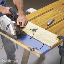 this is the best way to cut off a door bottom without splintering the wood