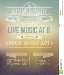 blurry summer background flyer template stock vector image  blurry summer background flyer template