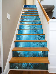 Painted Stairs Star Fall Painted Stairway 15 Stairs Stairways Design Art And