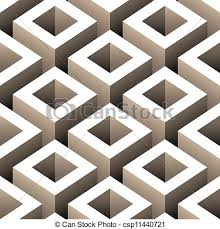 3d Patterns Custom Abstract Boxes 48d Seamless Pattern Vector Illustration