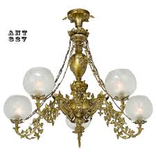 Antique Lighting Fixtures Philadelphia Antique Victorian Rococo 5 Arm Gas Chandelier 1840 Cornelius