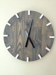 reclaimed wood wall clock large gray modern wood clock pallet wood clock reclaimed wood clock large