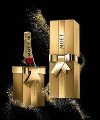 moët chandon s gold gift box celebrates this festive season