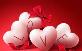 Wallpaper Love Hearts Ribbons 16k Love ...