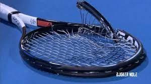 Novak Djokovic RACKET SMASH - Qatar ...