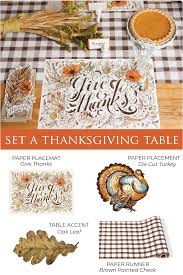 Designer Paper Placemats Gather Thanksgiving Table Setting Ideas For Your