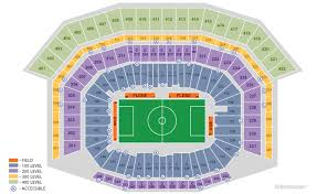 Cowboy Stadium Concert Seating Chart Dallas At T Stadium