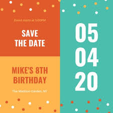 Free Save The Date Birthday Templates Customize 3 386 Save The Date Invitations Templates Online