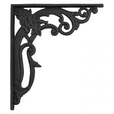 large shelf brackets. Wonderful Large Aloha Large Cast Iron Shelf Bracket  Black Powder Coat In Brackets N