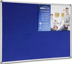 pin board for office. Felt Board Standard Frame (Colour: Royal Blue 346) Pin For Office