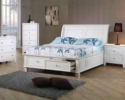 Full Bed Twin Bed with Storage Chicago Furniture White Kids Bed