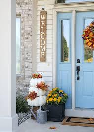front door decorCheery Fall Front Door Decorations  The Home Depot Blog