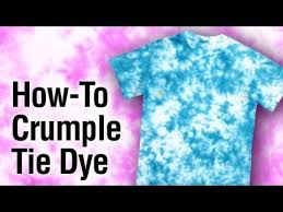 Different Tie Dye Patterns Classy Tulip TieDye Crumple Technique How To YouTube