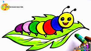 Vẽ con sâu/How to draw a Worm - YouTube