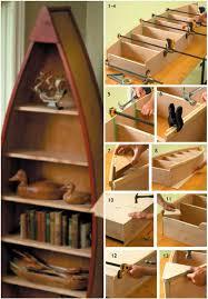 custom built boat bookshelf