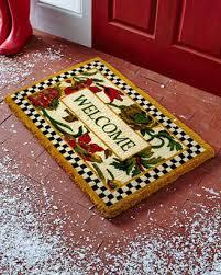 mackenzie childs mackenzie childs everlasting welcome doormat