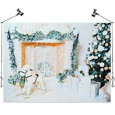 7x5ft white room tree gift wooden horse photography backdrop studio prop background cod